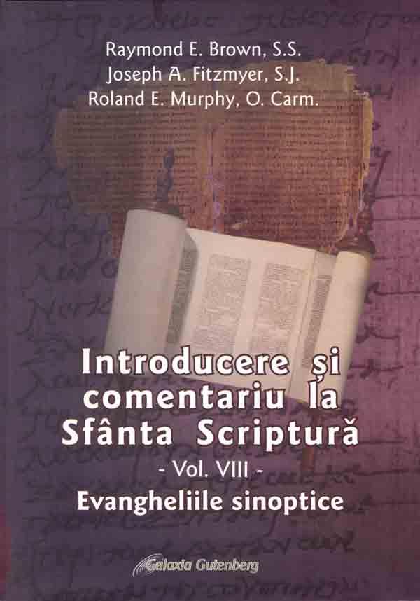 Introducere şi comentariu la Sfânta Scriptură. Vol. VIII. Evangheliile sinoptice