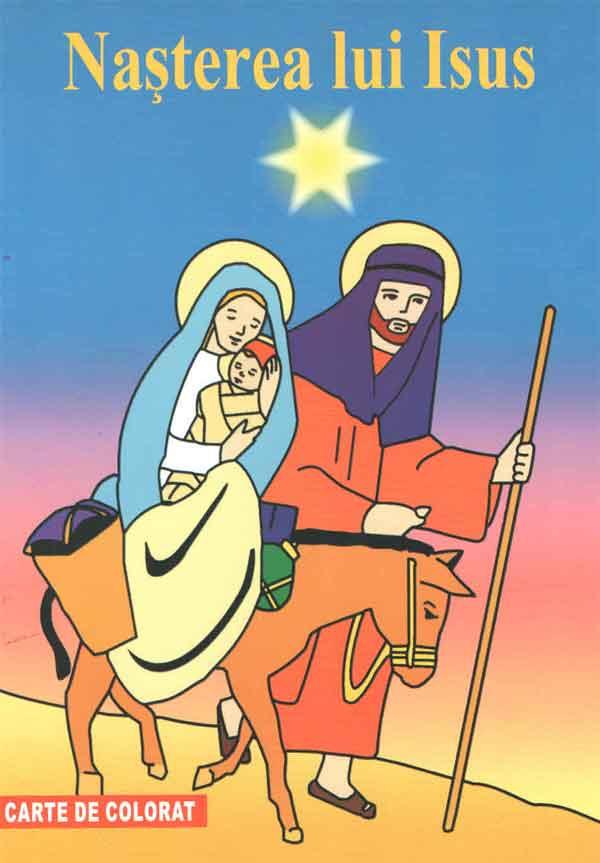 Nașterea lui Isus. Carte de colorat