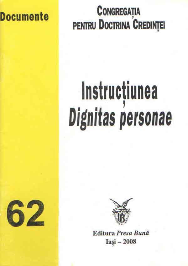 Instrucţiunea Dignitas personae