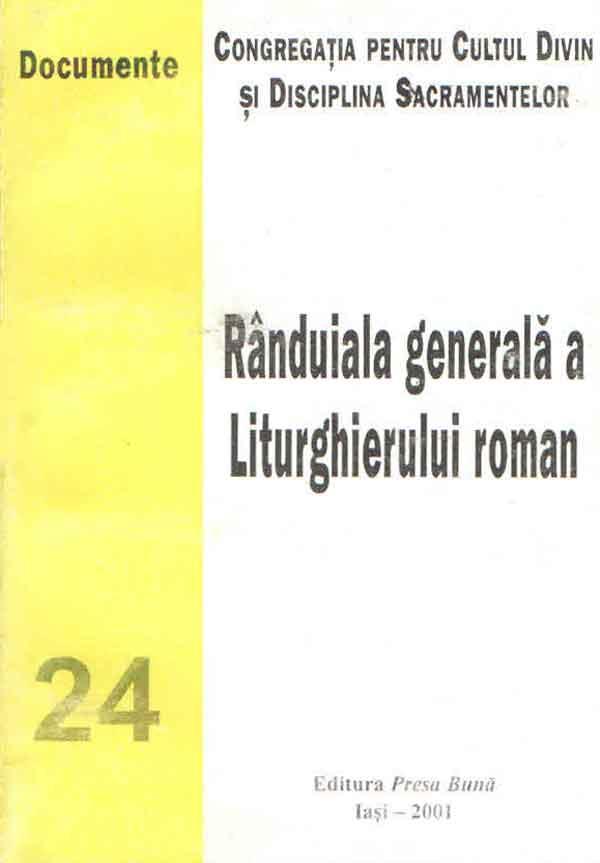 Rânduiala generală a Liturghierului roman