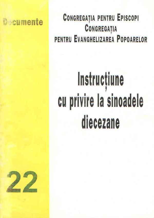 Instrucţiune cu privire la sinoadele diecezane