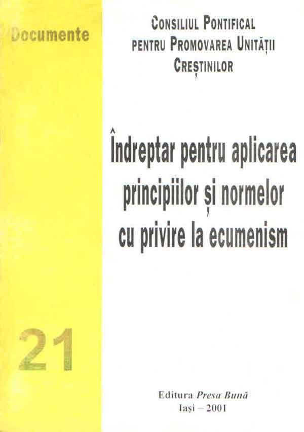 Îndreptar pentru aplicarea principiilor şi normelor cu privire la ecumenism