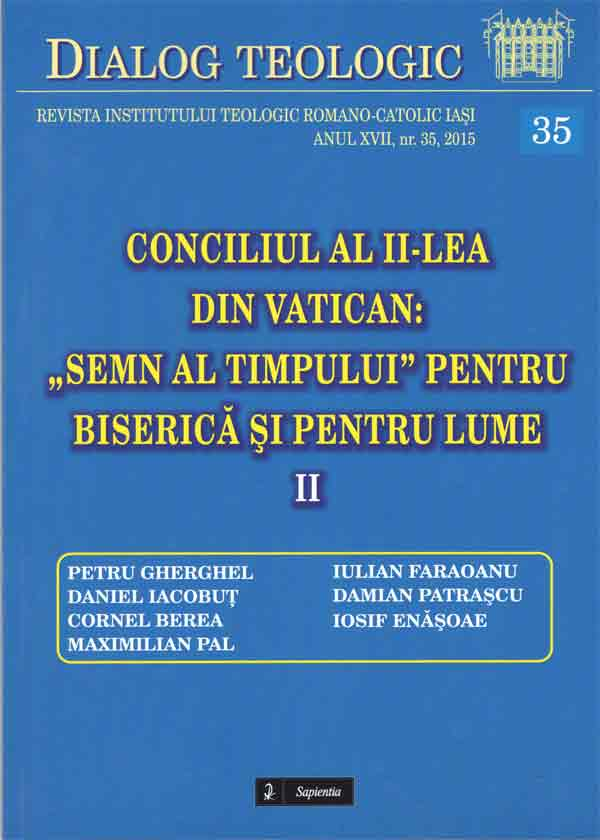 """Dialog teologic 35 - Conciliul al II-lea din Vatican: """"Semn al timpului"""" pentru Biserică şi pentru lume. II"""