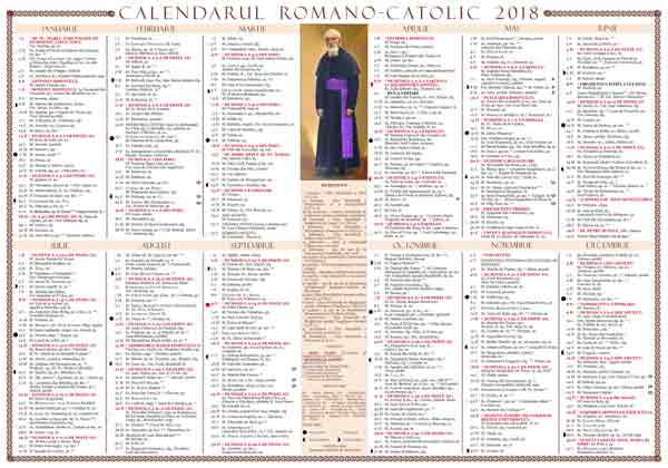 Calendar de perete 2018