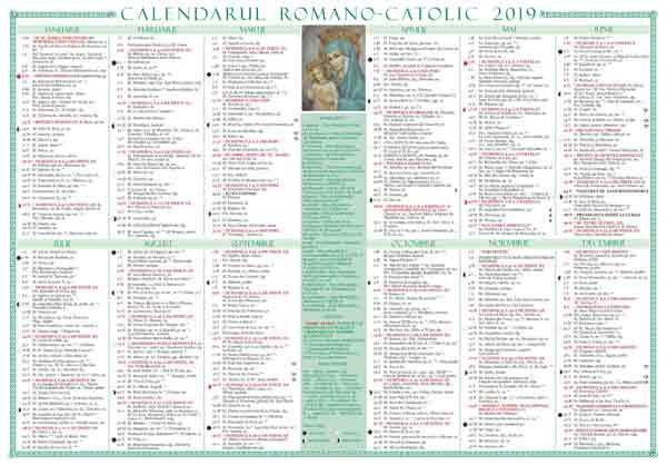 Calendar de perete 2019